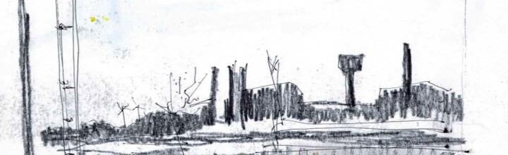Bitterfeld aus dem Zug by Andrea Seidel