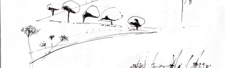 Landschaft mit Windrädern by Andrea Seidel
