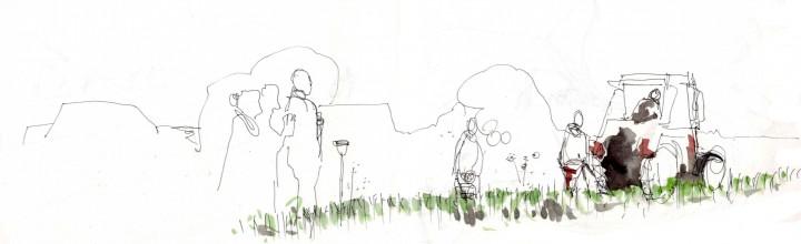 Rübenpflügen by Andrea Seidel