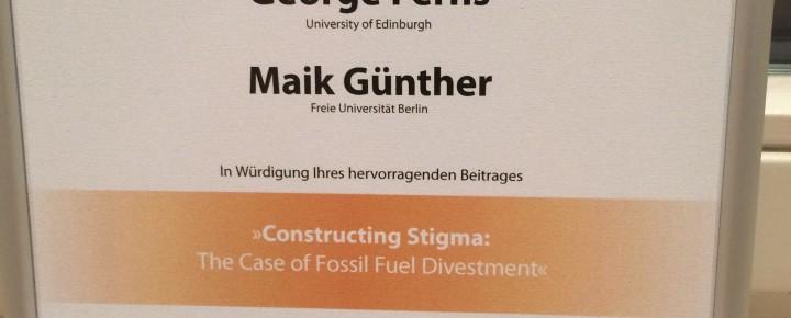 Clustermitglied Maik Günther mit akademischen Auszeichnungen